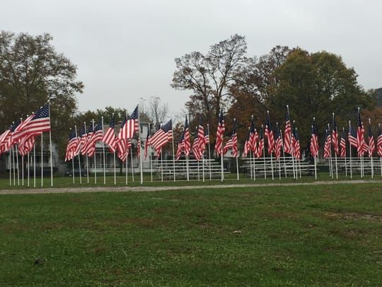The Freedom's Never Free exhibit at the Fairfield County