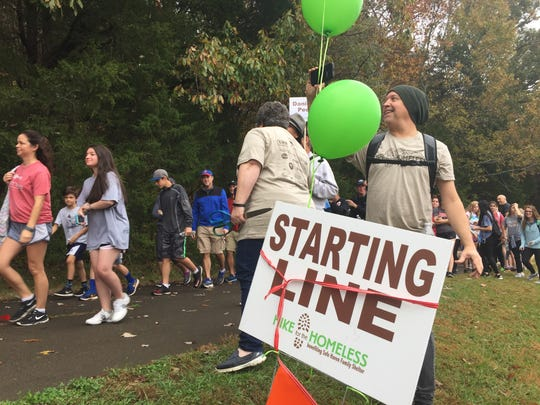 Safe Haven Family Shelter held its 13th annual Hike for the Homeless Saturday, Nov. 4, 2017, at Edwin Warner Park.