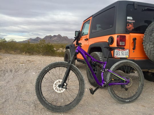 A photo taken by Ride On Sports assistant manager Julia Maraczi at the Doña Ana Mountain trailhead.