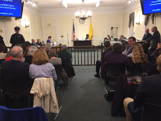 Dozens of residents packed White Plains City Hall as