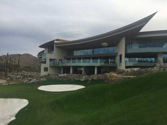The new clubhouse at Bighorn Golf Club in Palm Desert overlooks the Mountain Course of the club.