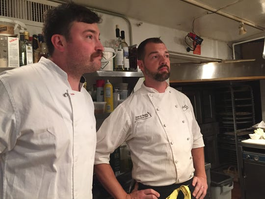 Milktooth chef Jonathan Brooks, left, and The Golden
