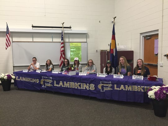 Fort Collins High School athletes sign to play college sports.