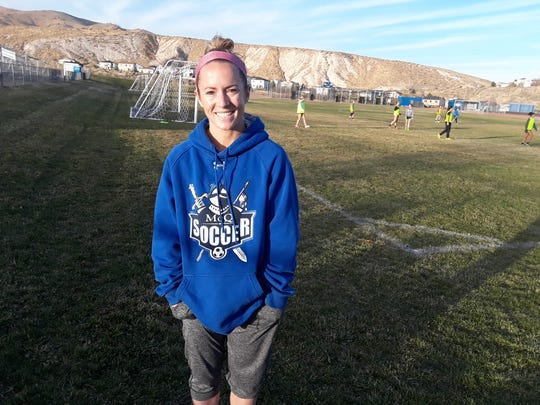 Sarah Voss played soccer at Spanish Springs and Nevada and is now an assistant coach at McQueen.