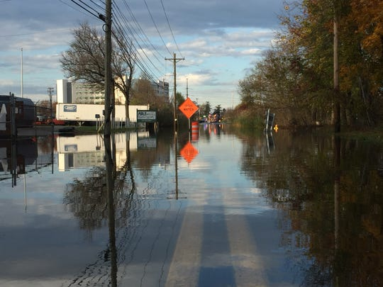High water on Airport Road in New Castle County has been especially bad over the last few months thanks to a broken flood gate, which was fixed Thursday.