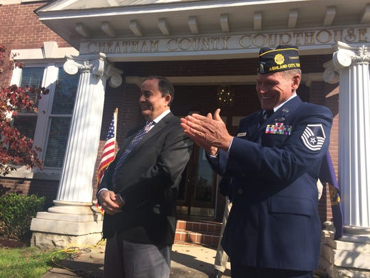 County Mayor Kerry McCarver and American Legion Post