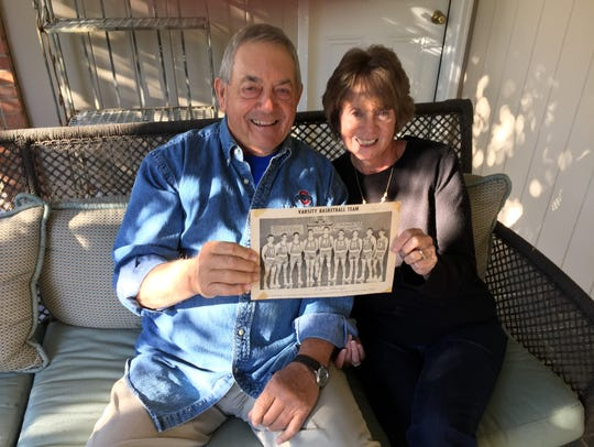 Jim and Melody Prather sit on the patio of their Fort