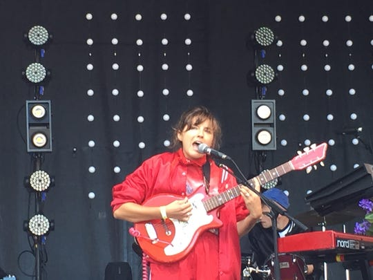 """Caroline Rose performs with her new band Sept. 2 at the """"Madaila on Main"""" festival in Burlington."""