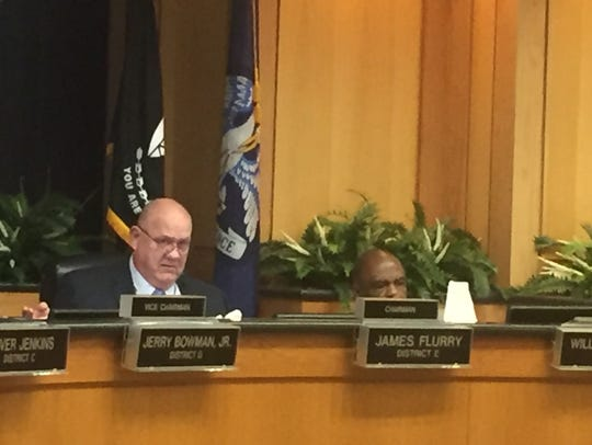 Council Chairman James Flurry asked to postpone a resolution