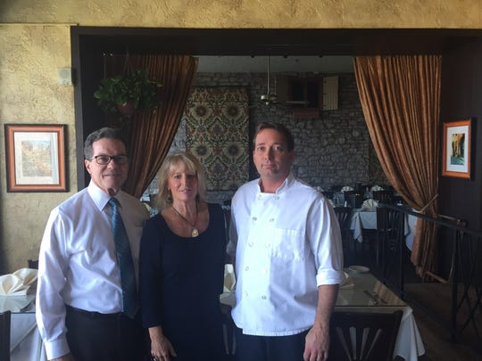 From left, Frank Lenkerd, Joan Lenkerd, owners of Primavista Restaurant, and Chris Prince, the restaurants' executive chef, taken at Primavista, November 14, 2017