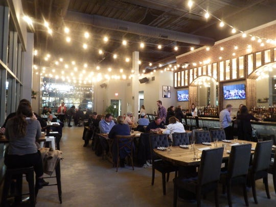 The interior at the new Iowa River Landing restaurant