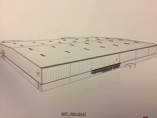 A rendering of the completed facility.
