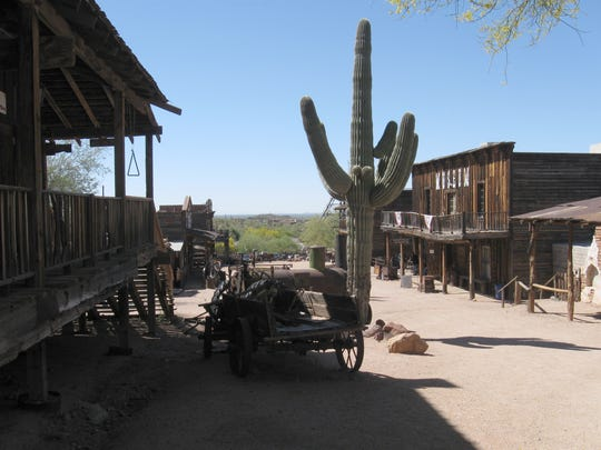Goldfield Ghost Town at the edge of the Superstition