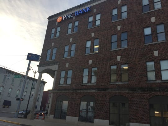 The city of Crawfordsville bought the PNC Bank building