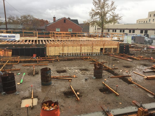 The addition to the Veterans Guest House under construction. It is expected to be finished in June 2018.
