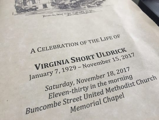 Program for the Celebration of the Life of Virginia