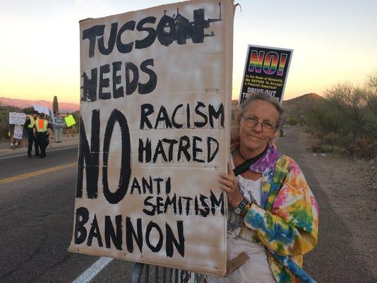 Protests at Steve Bannon Tuscon event