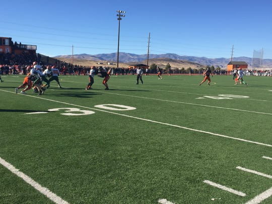 Mojave beat Fernley 42-13 on Saturday in a 3A state