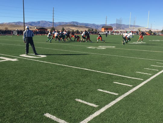 Mojave beat Fernley, 42-13, Saturday at Fernley to