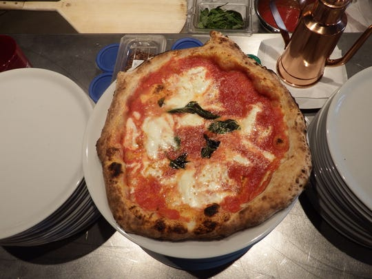 Pizza Margherita from Rusciano's Authentic Taste of Napoli in North Liberty is shown on Nov. 18, 2017.