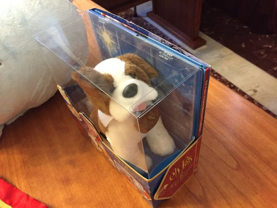 This Saint Bernard plush toy was among the children's