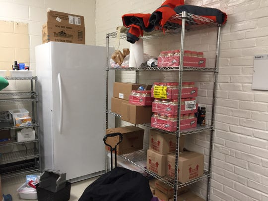 The Freestore Foodbank provided a fully-stocked freezer