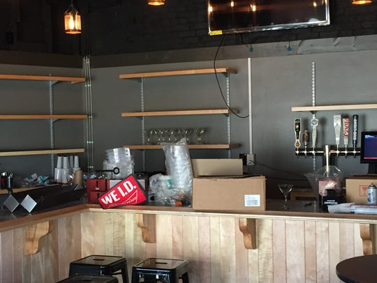 Bar area at The Rooftop, which will open Tuesday on