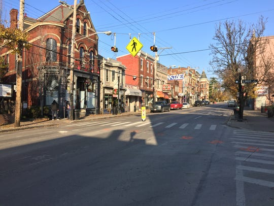The intersection of Hamilton and Lingo Avenues in Northside,
