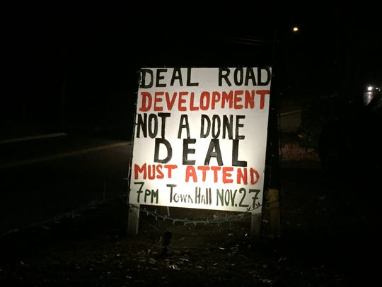 A sign in front of Jacqui Wenzel's house in opposition