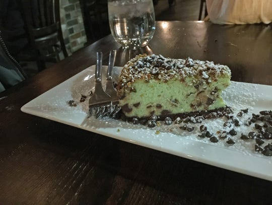 The pistachio cheesecake a Tony D's Restaurant in Corn