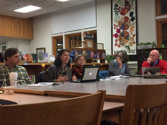 BSD School Board member Liz Curry speaks to community