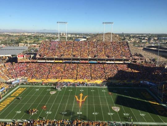 A view of the Arizona State-Arizona game on Nov. 25,