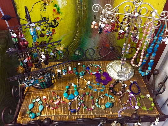 A selection of jewelry at Halsema Custom Crafts.