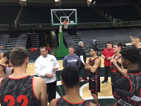 Southern Utah coach Todd Simon, from Fowler, Michigan,