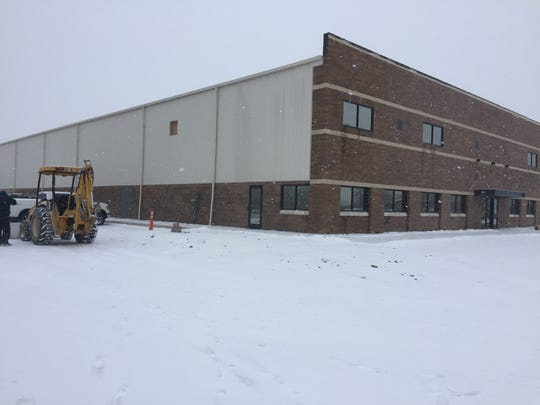 A 49,207-square-feet industrial building is under construction,