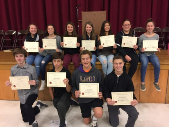 Pictured are the fall award winners:  Bottom Row: Edward Matto, cross country, Ryan Facinelli, cross country, Jack Cantwell, boys soccer, and Aiman Sabaawy, boys soccer.  Top Row: Christa Holland, field hockey, Emma Matthews, girls soccer, Grace Iervolino, cross country, Jordan Altom, cross country, Brianna Taylor, volleyball, Vanessa Pagano, volleyball, and Elyse Gallagher, field hockey.