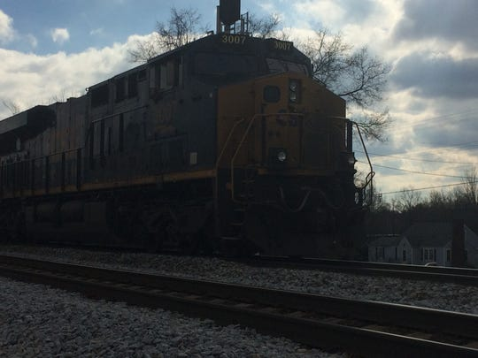 CSX officials moved a train involved in a Tuesday morning crash up the tracks towards Springfield, where they were able to examine the locomotive for damages.
