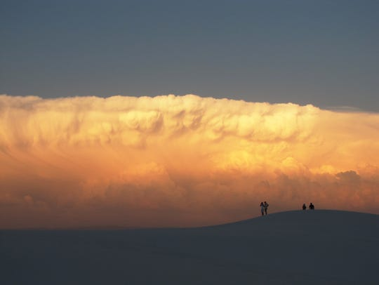 Couples can go on a guided tour and watch the sunset at White Sands National Monument.
