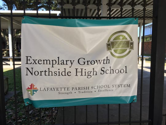 A banner shows the exemplary academic growth at Northside High School.