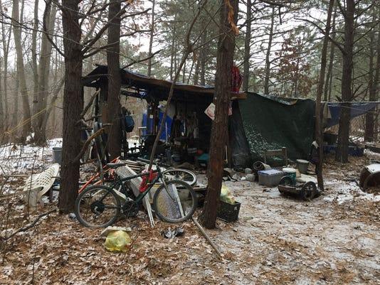 Neptune homeless encampment