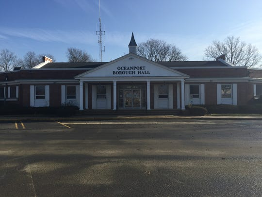 The front of Oceanport's Municipal Building on Dec.