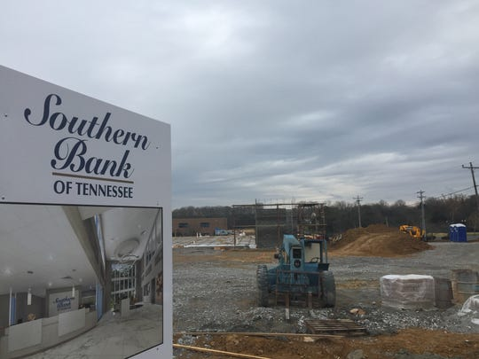 Construction is underway for Southern Bank of Tennessee on North Mt. Juliet Road in Mt. Juliet.