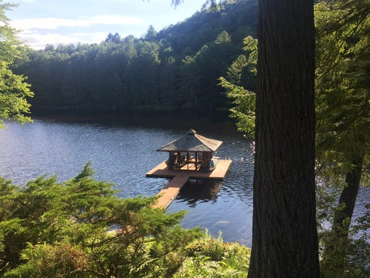 The view from John O'Hurley's property on Forsyth Pond