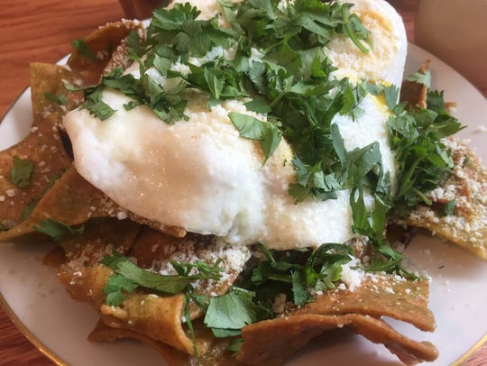 An order of chilaquiles verde from Park Place Café
