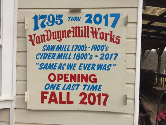 The Van Duyne Cider Mill in Montville may close at