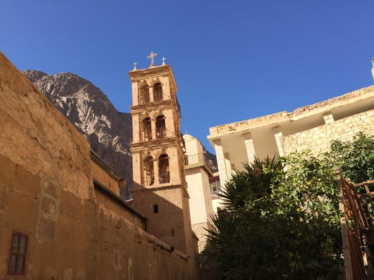 St. Catherine's Monastery in South Sinai, Egypt, includes a Christian basilica and and Muslim mosque.
