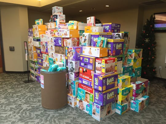 Members of Brandywine Valley Baptist Church donated diapers to the West center city.