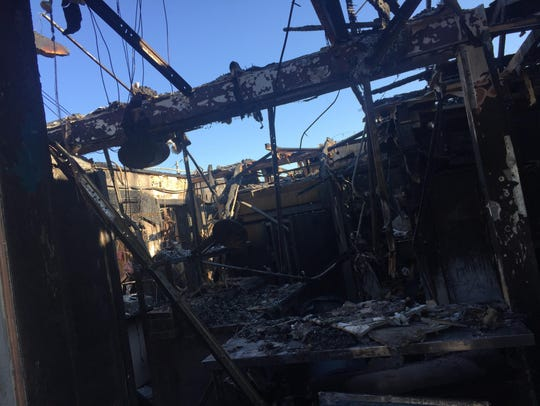 Nuzella's Pizza and Restaurant burned down during a