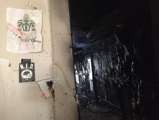 Several drawings escaped the fire in Jesse Washington's