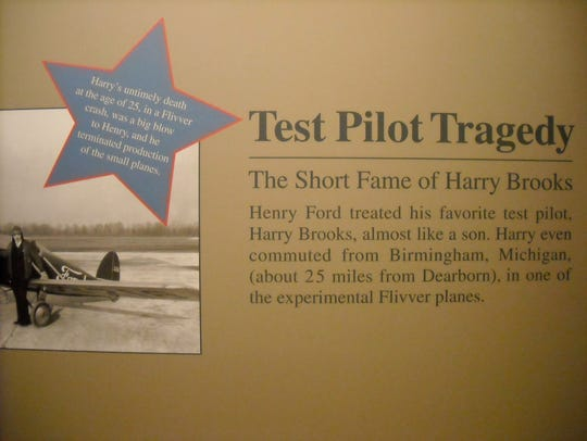 This photo is part of an exhibit about Ford aviation